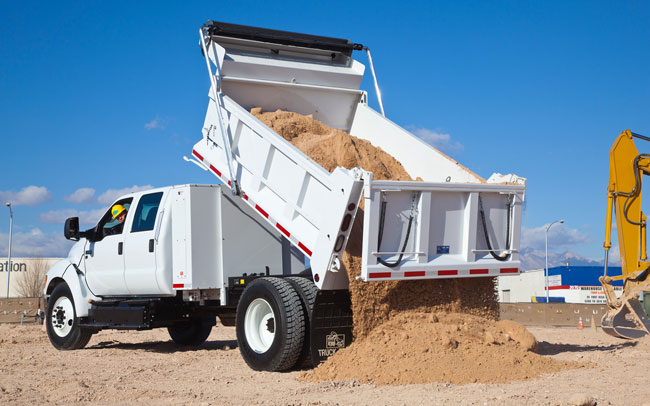 dump truck with sand