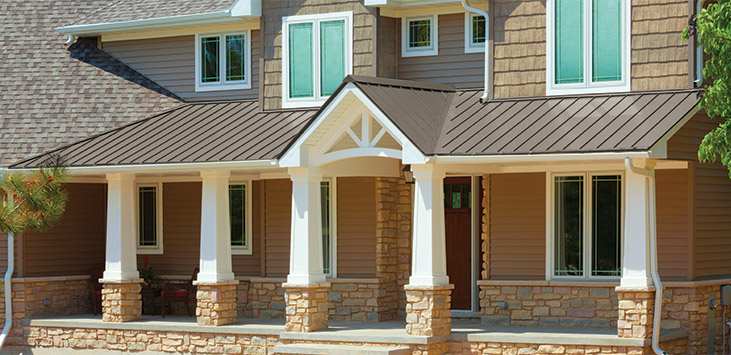 Universal Standing Seam In Riverwood Metal Roofing For