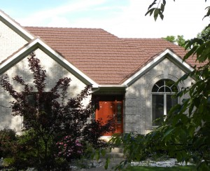 Classic metal roofs offer the beauty of hand-split cedar shakes.